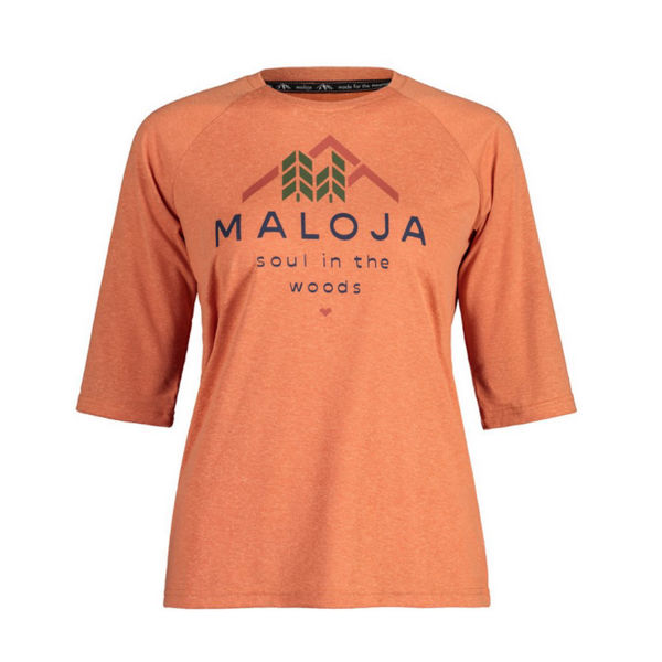 Picture of MALOJA BIKE JERSEY HIMBEEREM. GLOWING ALPS FOR WOMEN