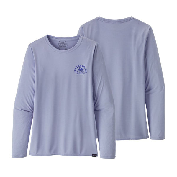 Picture of PATAGONIA RUNNING JERSEY CAPILENE COOL DAILY GRAPHIC ACTIVISM ARCH: BELUGA X-DYE FOR WOMEN