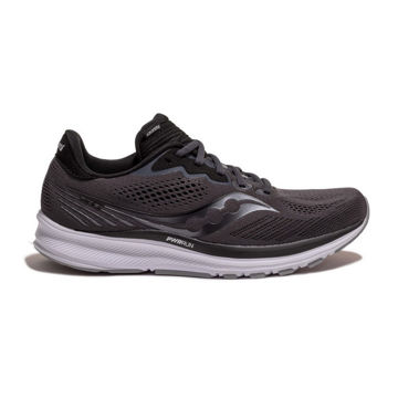 Picture of SAUCONY ROAD RUNNING SHOES RIDE 14 CHARCOAL/BLACK FOR MEN