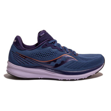 Picture of SAUCONY ROAD RUNNING SHOES RIDE 14 MIDNIGHT/COPPER FOR WOMEN