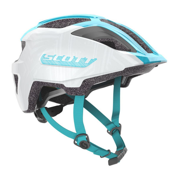 Image sur CASQUE DE VÉLO SCOTT SPUNTO JUNIOR PEARL WHITE/BREEZE BLUE POUR JUNIOR