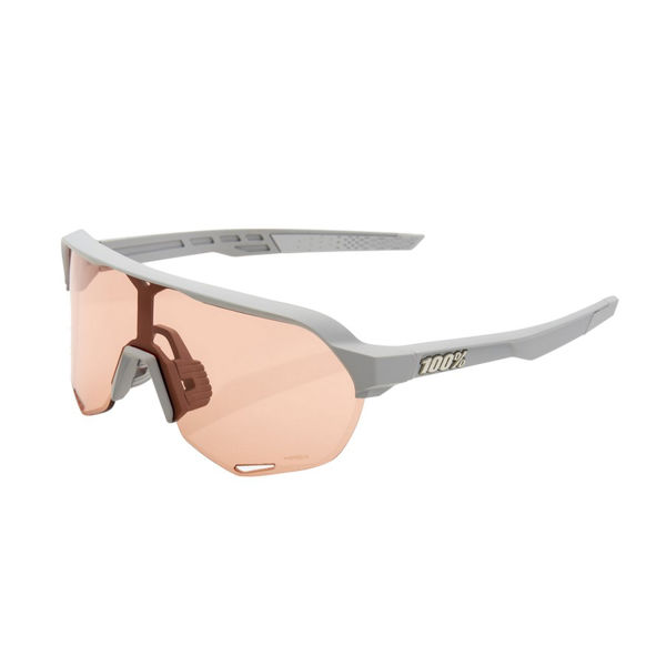 Picture of 100% SUNGLASSES S2 SOFT TACT STONE GREY - HIPER CORAL LENS