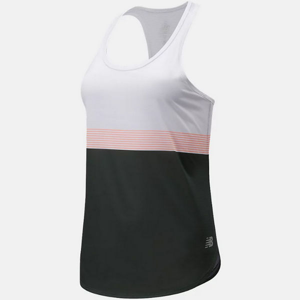 Picture of NEW BALANCE TANKTOP ACCELERATE BLACK SPRUCE FOR WOMEN