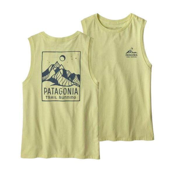 Image sur CAMISOLE PATAGONIA RIDGELINE RUNNER ORGANIC MUSCLE ISLA YELLOW POUR FEMME