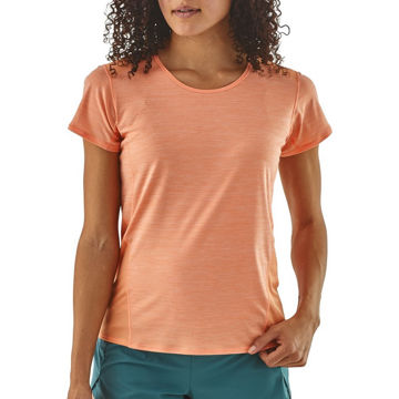 Picture of PATAGONIA RUNNING JERSEY AIRCHASER PEACH SHERBET FOR WOMEN