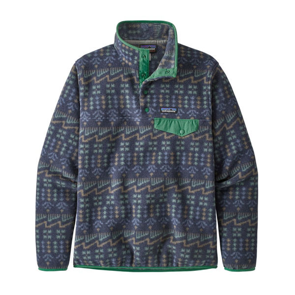 Picture of PATAGONIA LIGHTWEIGHT SYNCHILLA SNAP-T WILD ROOTS: NEW NAVY FOR WOMEN