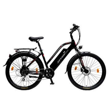 Picture of SEVEN PEAKS ELECTRIC BIKE E-ONE 7H CITY 500W/14.5A BLACK 2021
