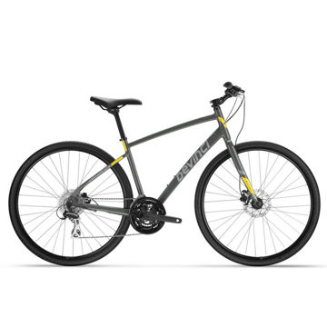 Picture of DEVINCI HYBRID BIKE ACERA DISC 24S GREY/YELLOW 2021