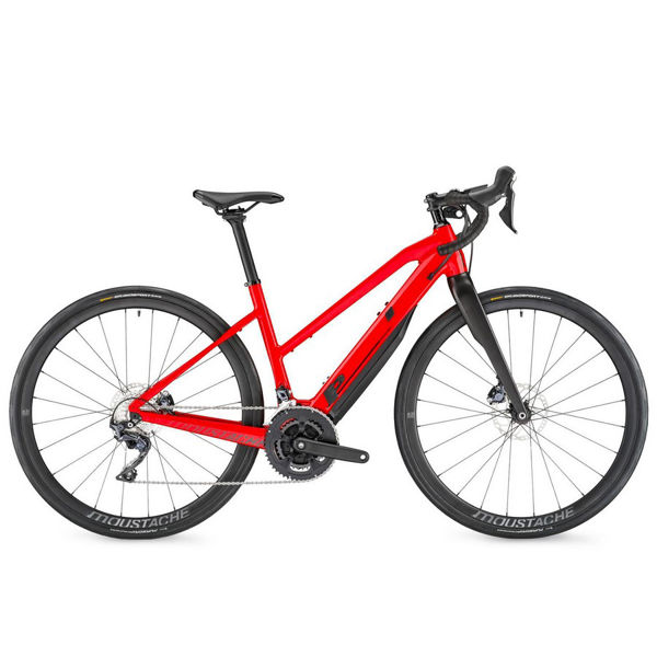 Picture of MOUSTACHE ELECTRIC BIKE DIMANCHE 28.5 OPEN RED 2021
