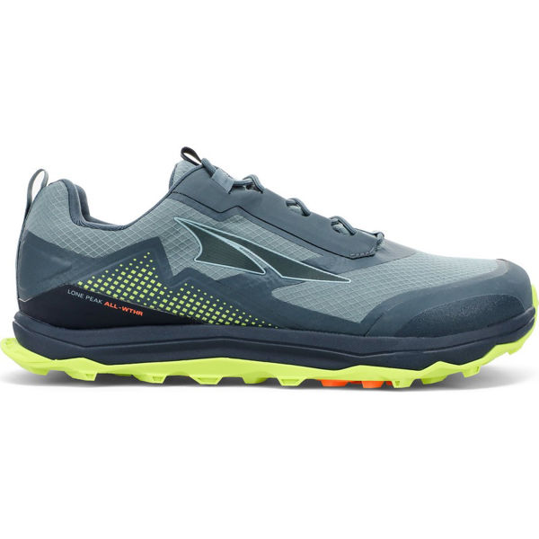 Picture of ALTRA TRAIL RUNNING SHOES LONE PEAK ALL-WTHR LOW GREY/LIME FOR MEN