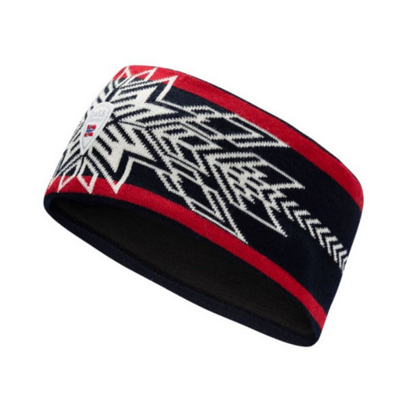 Picture of DALE OF NORWAY OL SPIRIT HEADBAND NAVY OFFWHITE RASPBERRY