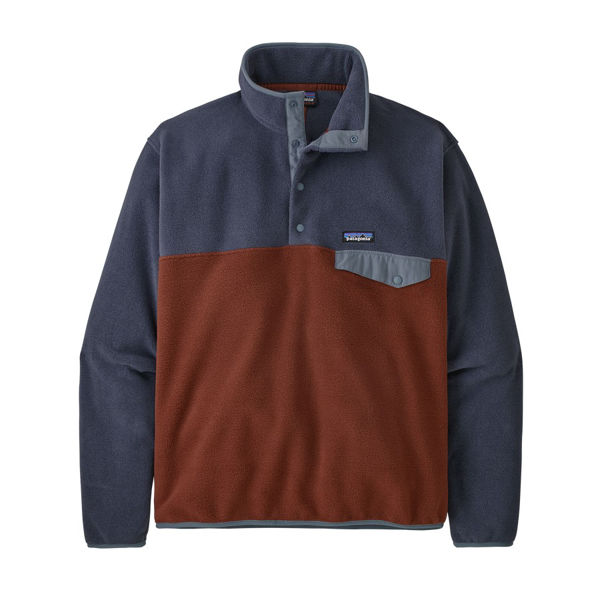 Picture of PATAGONIA ALPINE SKI SWEATER LIGHTWEIGHT SYNCHILLA SNAP-T FLEECE PULLOVER FOX RED FOR MEN