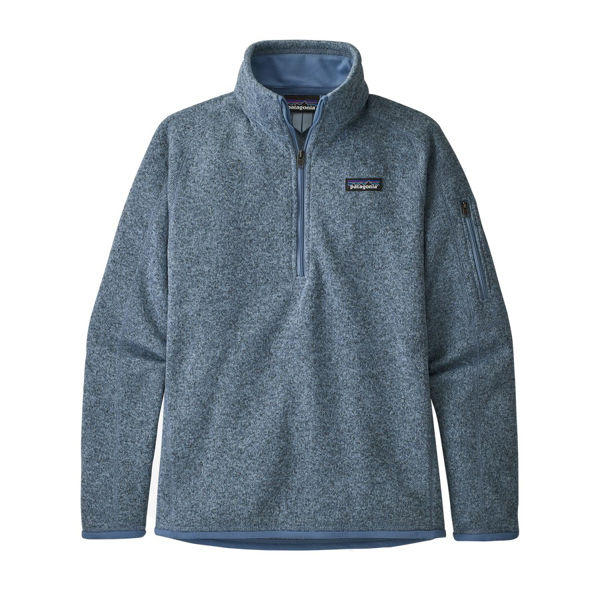 Picture of PATAGONIA ALPINE SKI SWEATERS BETTER SWEATER 1/4 ZIP BERLIN BLUE FOR WOMEN