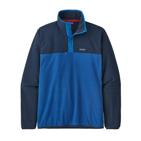 Picture of PATAGONIA ALPINE SKI SWEATER MICRO D SNAP-T P/O SUPERIOR BLUE FOR MEN