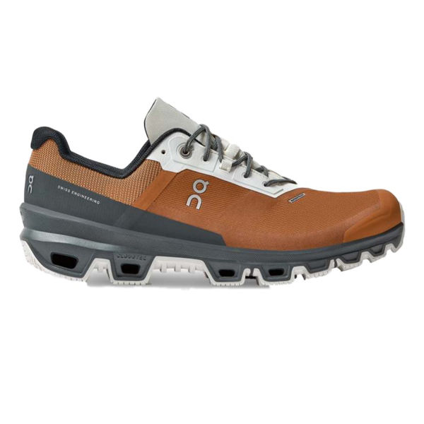 Picture of ON TRAIL RUNNING SHOES CLOUDVENTURE WATERPROOF PECAN/LEAD FOR MEN