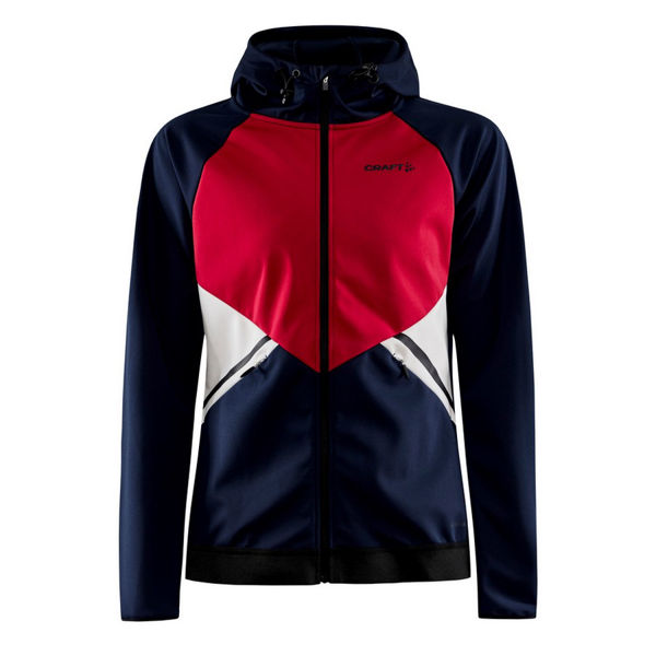 Picture of CRAFT CROSS COUNTRY SKI JACKET GLIDE HOOD BLAZE/MACHINE FOR WOMEN