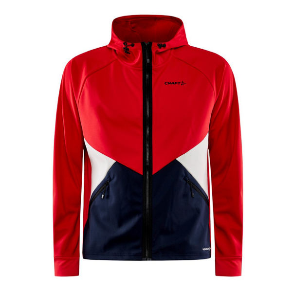 Picture of CRAFT CROSS COUNTRY SKI JACKET GLIDE HOOD LYCHEE/BLAZE FOR MEN