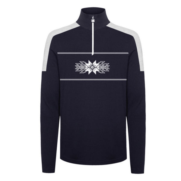 Picture of DALE OF NORWAY ALPINE SKI SWEATER OL SPIRIT BASIC SWEATER NAVY OFFWHITE FOR MEN