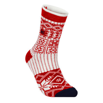 Picture of DALE OF NORWAY SOCKS OL HISTORY CREW CUT RASPBERRY OFFWHITE NAVY