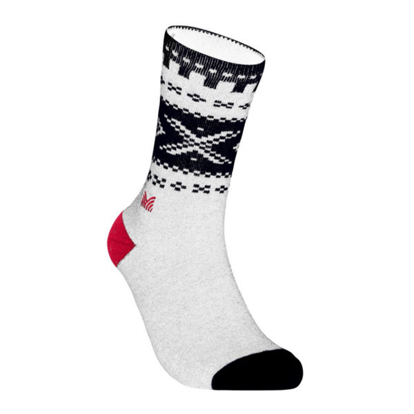 Picture of DALE OF NORWAY SOCKS CORTINA CREW CUT OFFWHITE NAVY RASPBERRY