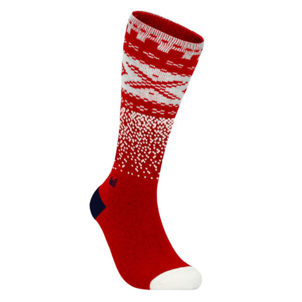 Picture of DALE OF NORWAY SOCKS CORTINA KNEE HIGH RASPBERRY OFFWHITE NAVY