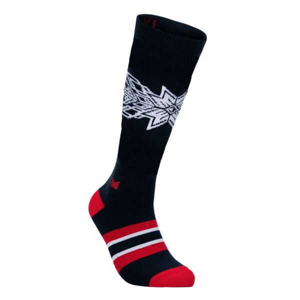 Picture of DALE OF NORWAY SOCKS OL SPIRIT KNEE HIGH NAVY RASPBERRY OFFWHITE